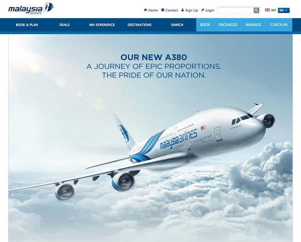 MAS advertising copy for A380