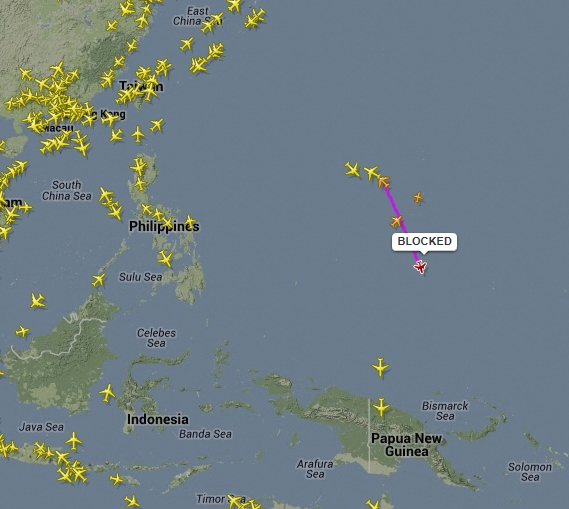 Blocked, Courtesy: FlightRadar24