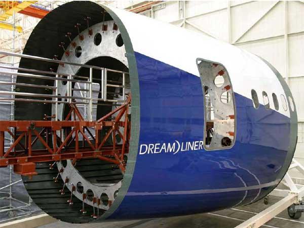 A Boeing 787 frame