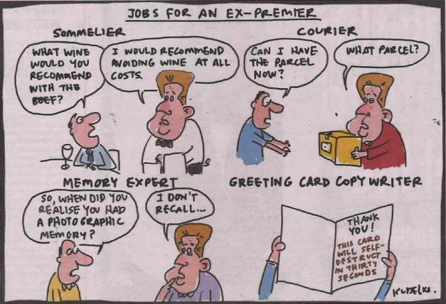 Jobs for an Ex-Premier; Cartoon by Kudelka