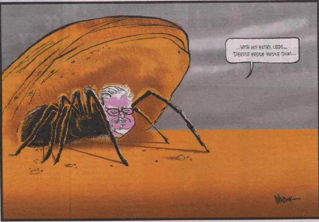 Cartoon by Warren Brown, Daily Telegraph 2/7/2014
