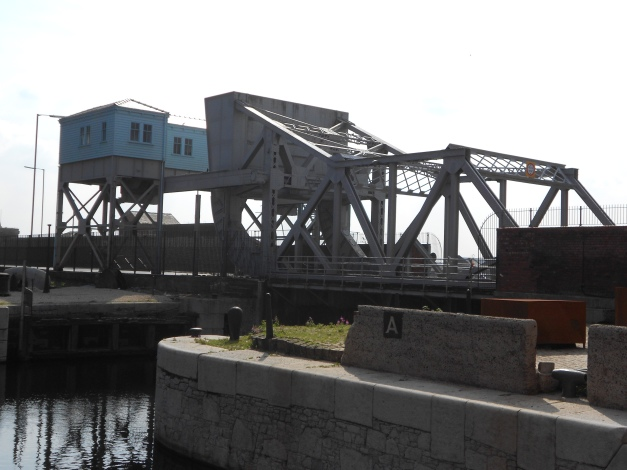 Bascule bridge at the opening of Stanley Wharf