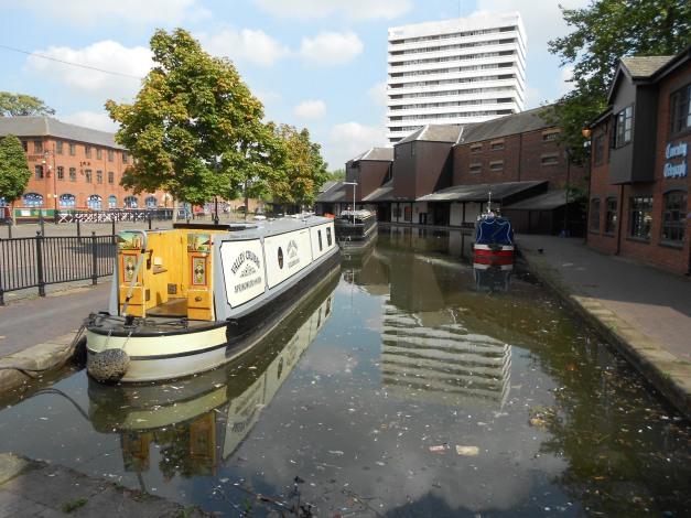 Narrowboat in the Basin