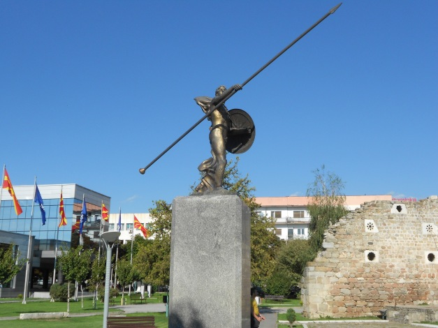 What Macedonian town would not be complete without a tribute to Alexander the Great?