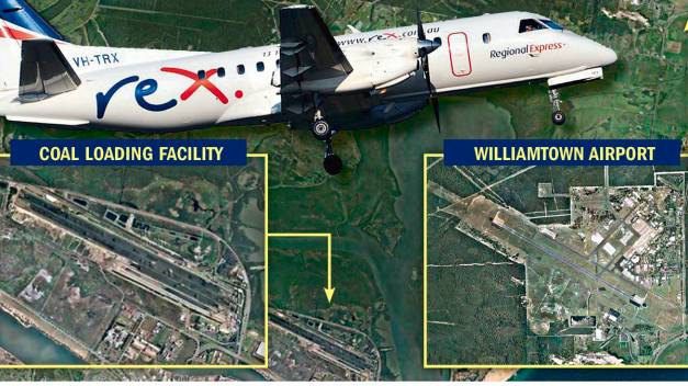 Kooragang Coal Loader and Williamtown Airport