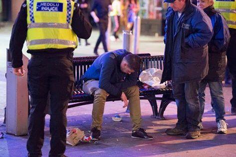 Welsh police (Heddlu) on scene with sociology student!