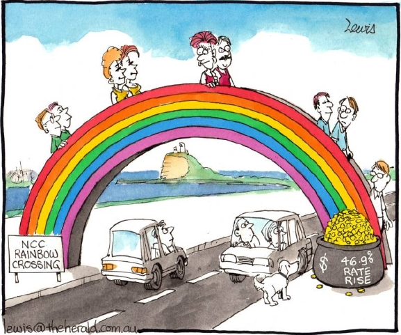 The Rainbow Crossing