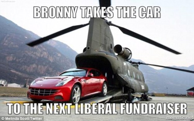 Bronny takes a car to the next Liberal fundraiser.